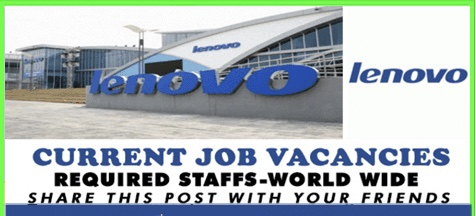 Latest jobs updates in lenovo