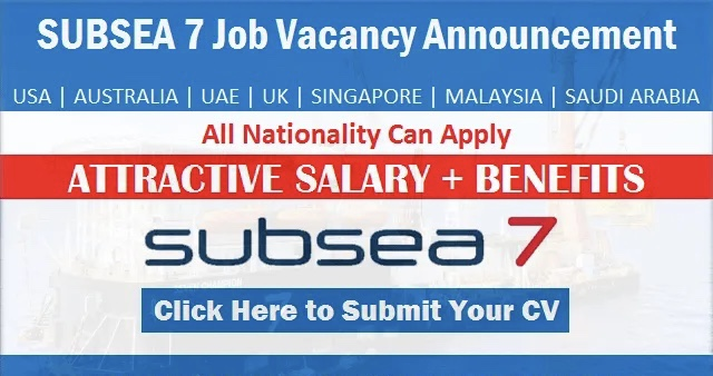 Urgent Subsea 7 Job Vacancies | Offshore Careers Recruitment