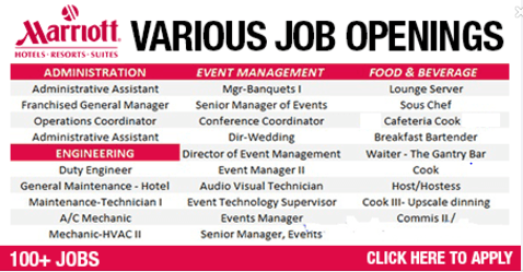 Apply for Latest Job Vacancies in Marriott