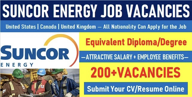 Suncor Energy Jobs | Hiring in USA-Canada-UK